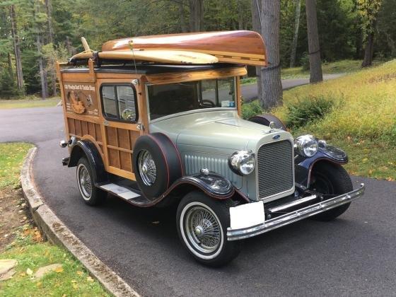 1929 Ford Model A Custom Built Woody w Teardrop Trailer
