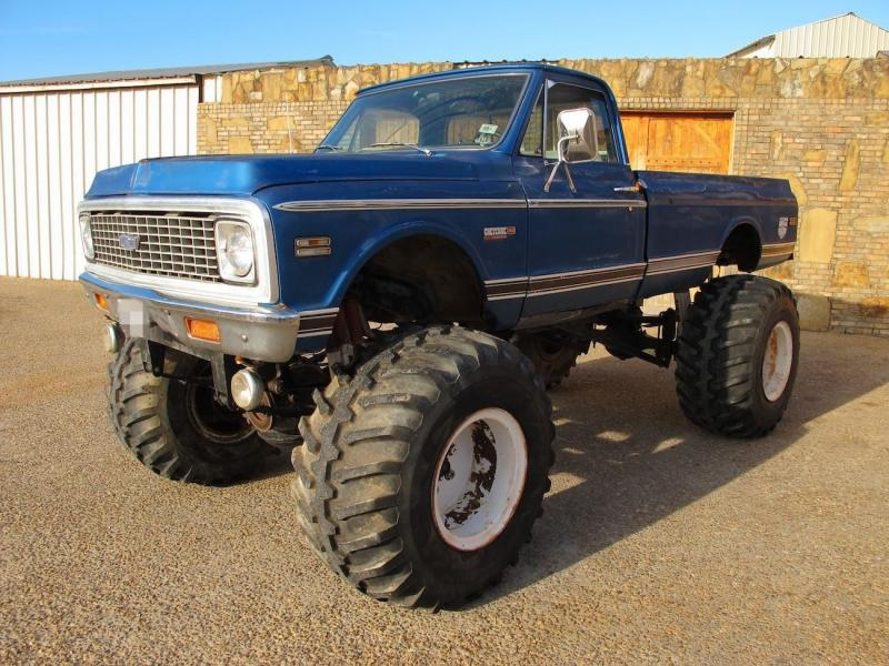 4x4 monster truck 1972 chevrolet c20 military chevy trucks trans axles block auto classic pickup cars gm lifted visit pickups
