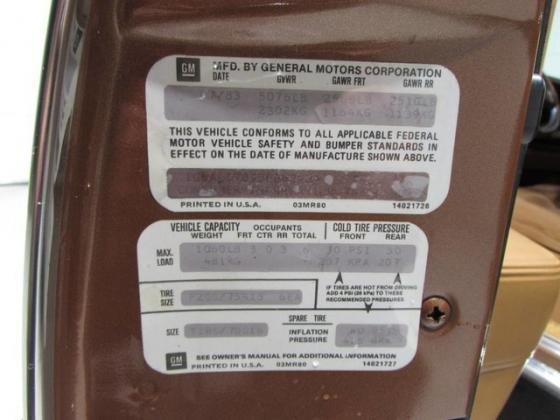 1983 CADILLAC ELDORADO ONE OWNER ALL ORIGINAL HT-4100 LOW MILES