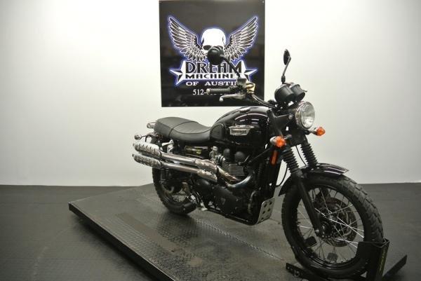 Dream Machines Indian 2015 Triumph Scrambler Standard 20761 Miles Black