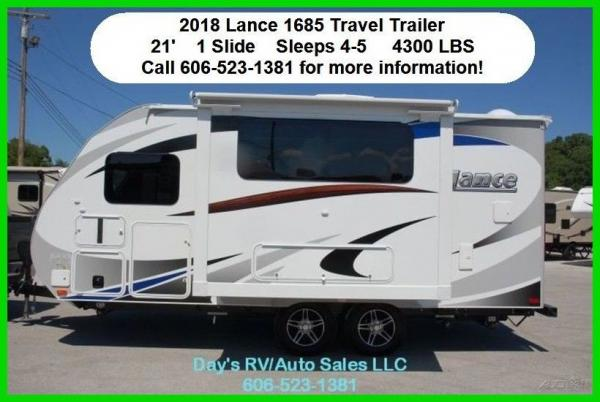 2018 Lance Manufacturing 1685 Travel Trailer Bumper Pull Behind Camper New RV