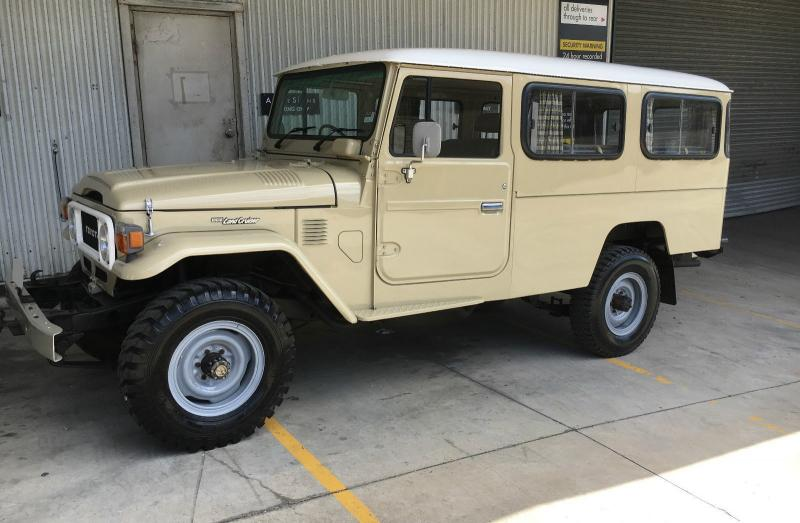 toyota fj45 troop carrier landcruiser hj47 fj40 cruiser land suit 1980 genuine miles australia 2f grey