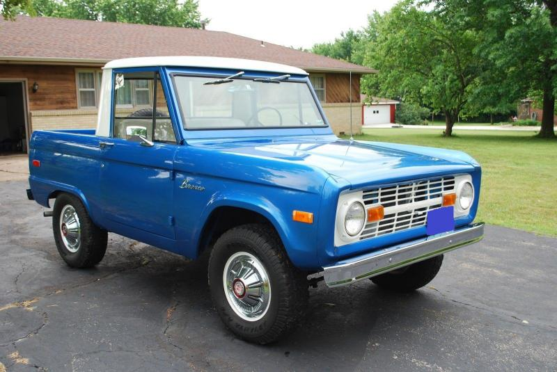 Cars 1970 Ford Bronco Half Cab Pickup