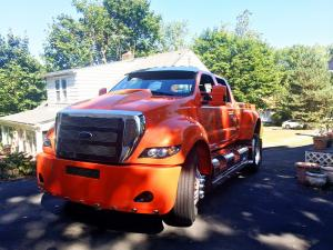 2008 Ford F-650 Custom Pickup Big Orange