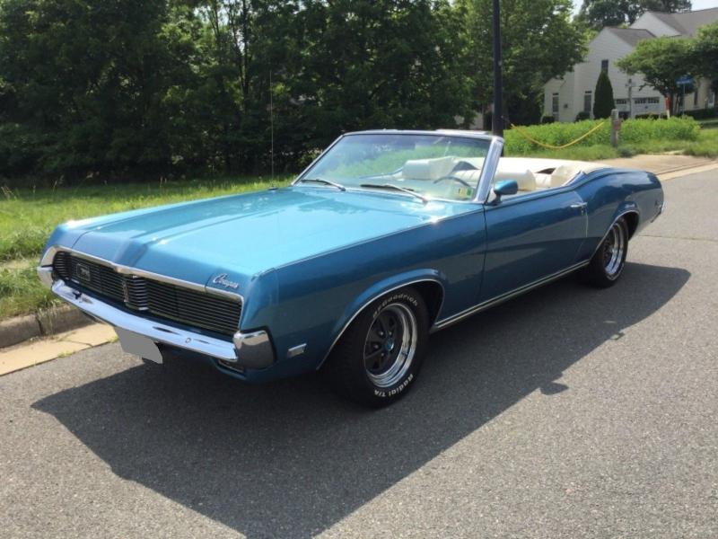 Cars 1969 Mercury Cougar Xr7 Convertible 351