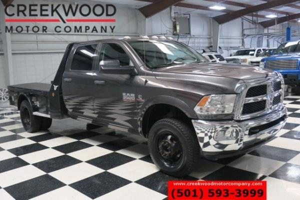 2016 Ram 3500 Dodge ST SLT 4x4 Diesel Dually Utility Flatbed New Tires