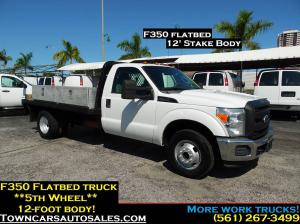 2011 Ford F-350 Flatbed Pickup Truck Stake Truck