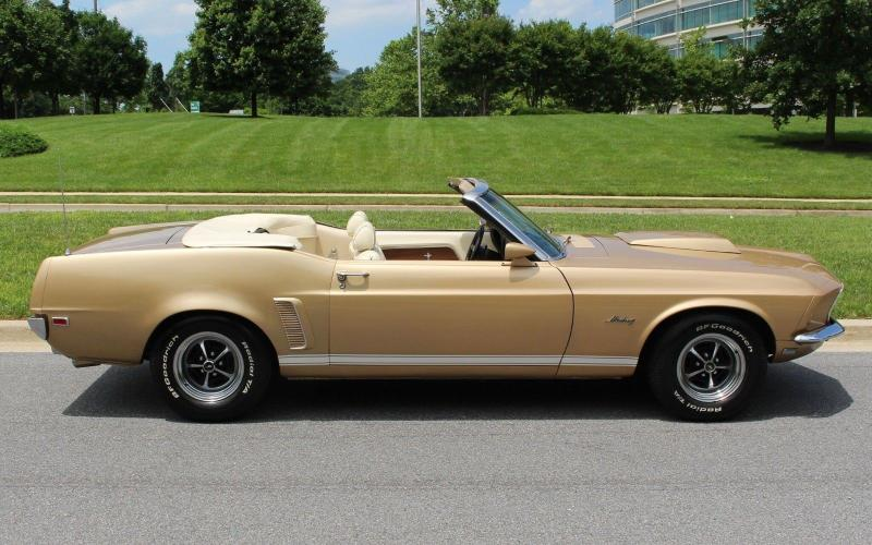 Cars 1969 Ford Mustang Gt Convertible Gold 351 Windsor