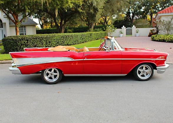 1957 CHEVROLET BELAIR 150 210 CONVERTIBLE 327CI V-8 ENGINE 4BBL