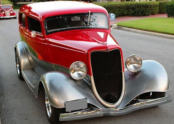 1934 Ford Tudor Hotrod Sedan All Steel 302