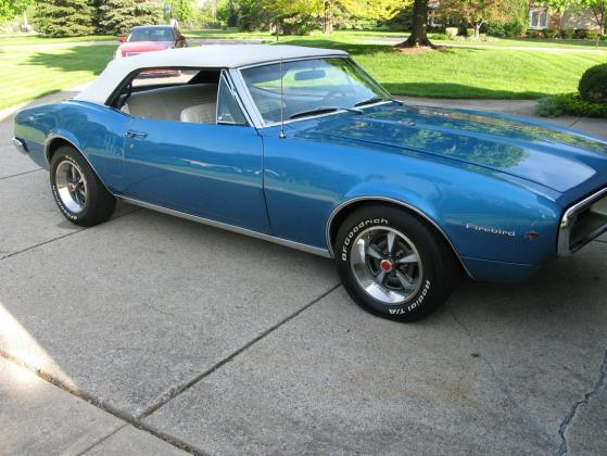 1967 Pontiac Firebird 3spd Automatic Convertible