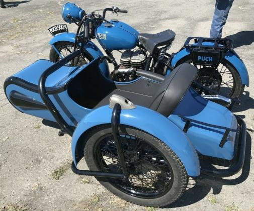 1935 Puch 500V with Sidecar Vintage Blue