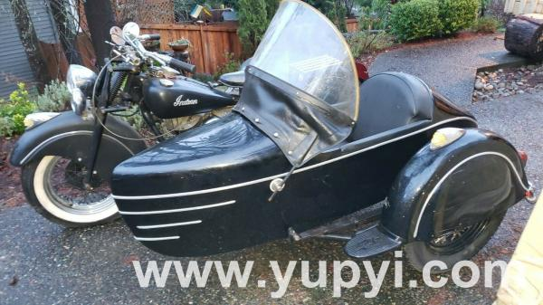 1948 Indian Chief with Left Sidecar