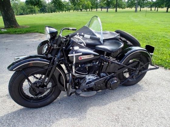 1947 Harley-Davidson Knucklehead Vintage With '47 Sidecar